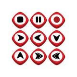 Кнопка символа знака значка имущества игры Стоковые Изображения