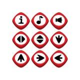 Кнопка символа знака значка имущества игры Стоковое Фото