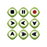 Кнопка символа знака значка имущества игры Стоковые Фотографии RF