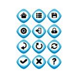 Кнопка символа знака значка имущества игры Стоковое Изображение RF
