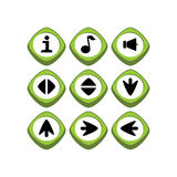 Кнопка символа знака значка имущества игры Стоковая Фотография