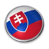 кнопка Словакия знамени Стоковое фото RF