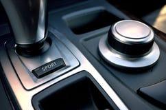 Кнопка спорта внутри автомобиля Стоковое Изображение RF
