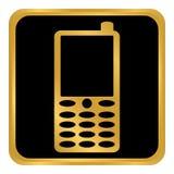 Кнопка телефона на белизне Стоковое Фото