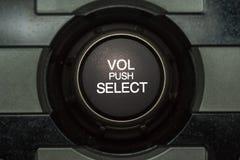 Кнопка тома автомобиля тональнозвуковая Стоковое Изображение RF