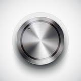 Кнопка тома технологии с текстурой металла Стоковая Фотография RF
