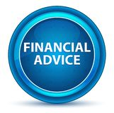Кнопка финансового зрачка совета голубая круглая иллюстрация вектора
