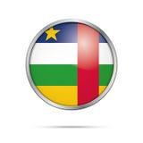 Кнопка флага вектора центрально-африканская Республика центральной Африки f бесплатная иллюстрация