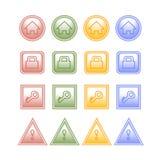 Кнопка цвета установленная на белизну бесплатная иллюстрация