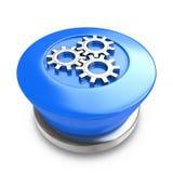 Кнопка шестерни Стоковое Изображение