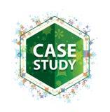 Кнопка шестиугольника зеленого цвета картины заводов конкретного исследования флористическая иллюстрация штока