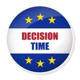 Кнопка штыря времени принятия решения Стоковое фото RF