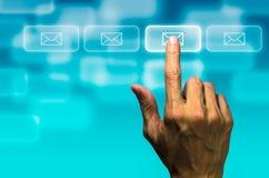 Кнопка почты щелчка Стоковое Фото