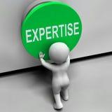 Кнопка экспертизы значит умелого специалиста бесплатная иллюстрация
