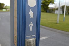 Кнопка для пешехода Стоковые Фотографии RF