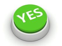 кнопка да Стоковое Изображение RF