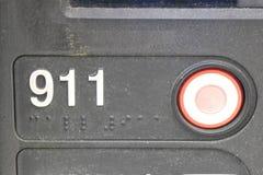 кнопка 911 Стоковая Фотография