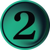 кнопка 2 Стоковые Фотографии RF