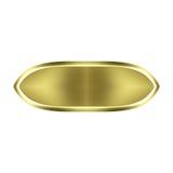 кнопка 3d золотистая Стоковые Фотографии RF