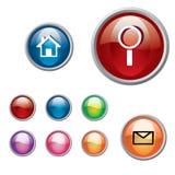 кнопка 3d круглая Стоковое Изображение