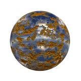 кнопка 3d сферически Стоковое фото RF