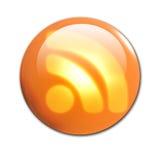 кнопка 3d RSS Стоковые Изображения RF