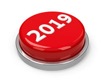 Кнопка 2019 Стоковые Фото
