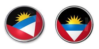 кнопка barbuda знамени Антигуы Стоковое фото RF
