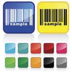 кнопка barcode Стоковое Фото