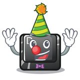 Кнопка d клоуна в форме мультфильма иллюстрация штока