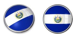 кнопка El Salvador знамени Стоковое Изображение