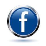 Кнопка Facebook Стоковые Фотографии RF