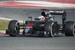 Кнопка Jenson водителя Команда Mclaren Honda Стоковое Изображение RF