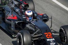 Кнопка Jenson водителя Команда Mclaren Honda Стоковая Фотография