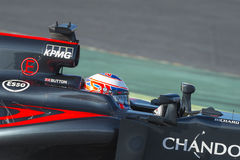 Кнопка Jenson водителя Команда Mclaren Honda Стоковые Изображения