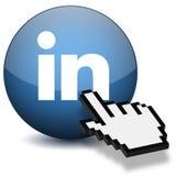 Кнопка Linkedin Стоковые Изображения RF