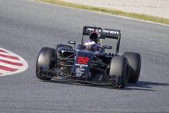 Кнопка McLaren 2016 Jenson стоковые изображения
