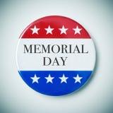 Кнопка Pin с Днем памяти погибших в войнах текста Стоковые Изображения RF