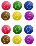 кнопки большие пальцы руки вниз лоснистые вверх бесплатная иллюстрация