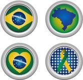 кнопки Бразилии Стоковая Фотография RF