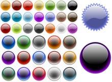 Кнопки вебсайта Стоковые Фотографии RF