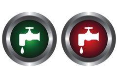 кнопки выстукивают воду 2 Стоковые Изображения