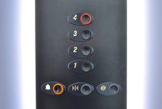 Кнопки в лифте Стоковые Изображения