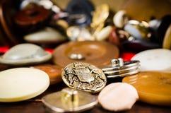 Кнопки год сбора винограда Стоковые Фотографии RF