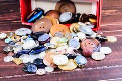Кнопки год сбора винограда Стоковое Изображение RF