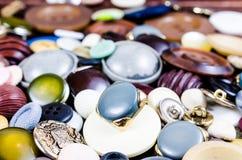 Кнопки год сбора винограда Стоковая Фотография