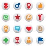 кнопки датируя влюбленность Стоковое Изображение RF
