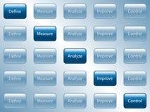 кнопки дела Стоковое фото RF