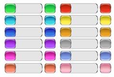 кнопки длиной Стоковые Изображения