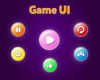 Кнопки для мобильного ui детали игр иллюстрация вектора